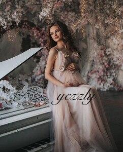 Image 5 - Vestido Noiva 2020 סקסי ספגטי רצועות ללא משענת פרחי חוף חתונת שמלה ארוך קריסטל Boho חתונה שמלות רצפת אורך W30