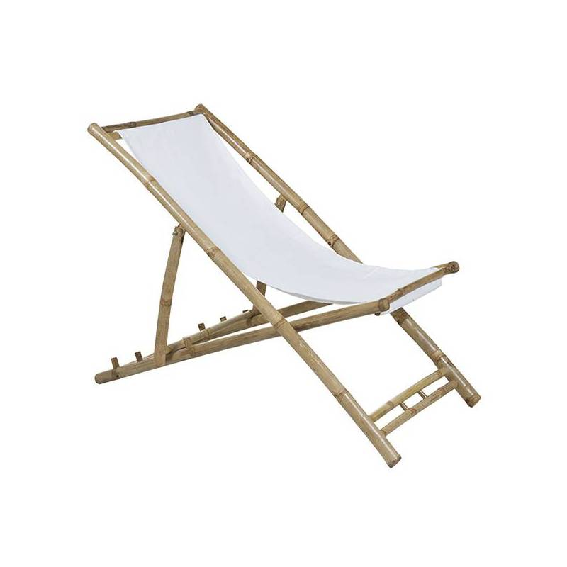 Chair (115x66x59 Cm) White Bamboo