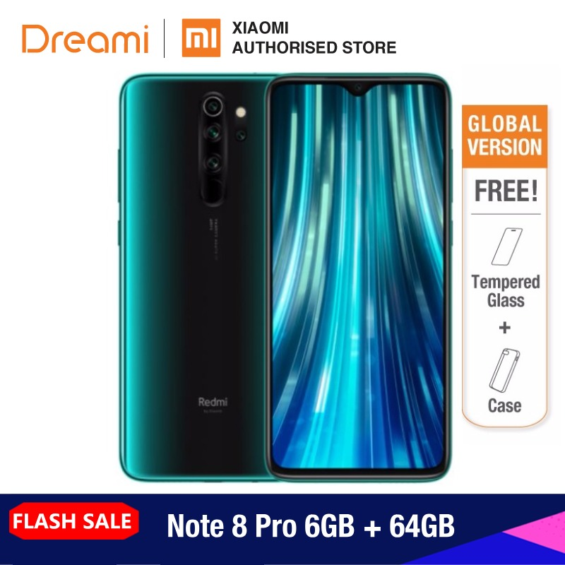 Global Version Xiaomi Redmi Note 8 PRO 64GB ROM 6GB RAM (Official Rom), Note8 Pro Smartphone Mobile