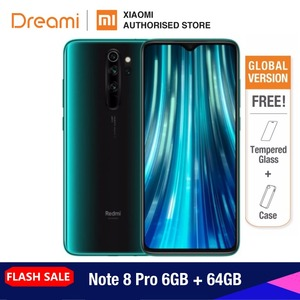 Global Version Xiaomi Redmi Note 8 PRO 64GB ROM 6GB RAM (Official Rom), note8 pro Smartphone Mobile(Hong Kong,China)