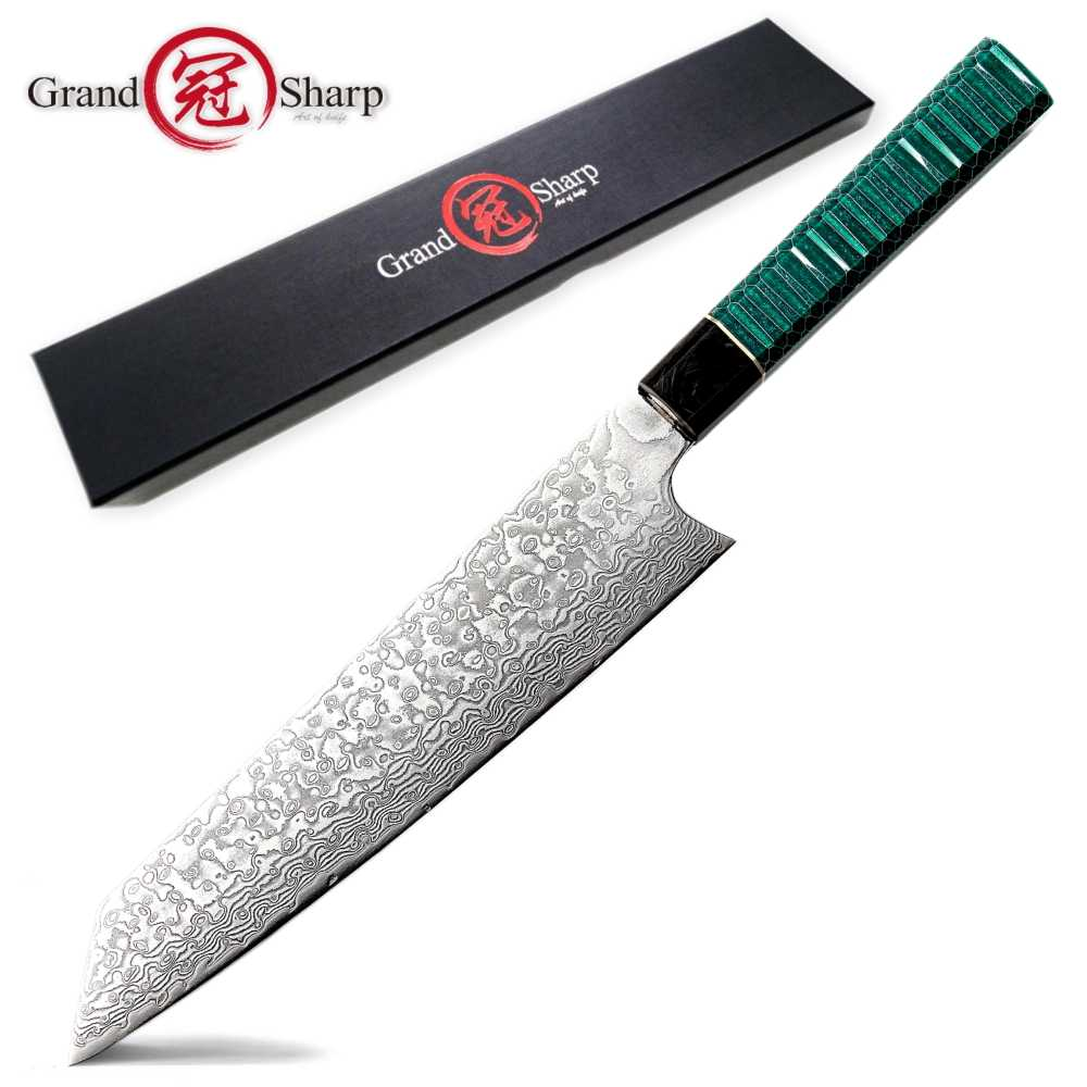 Damascus Kitchen Knife Japanese Kiritsuke Knife VG10 Japanese Damascus Chef Knife Slicing Cooking Home Tools Chef's Best Gift
