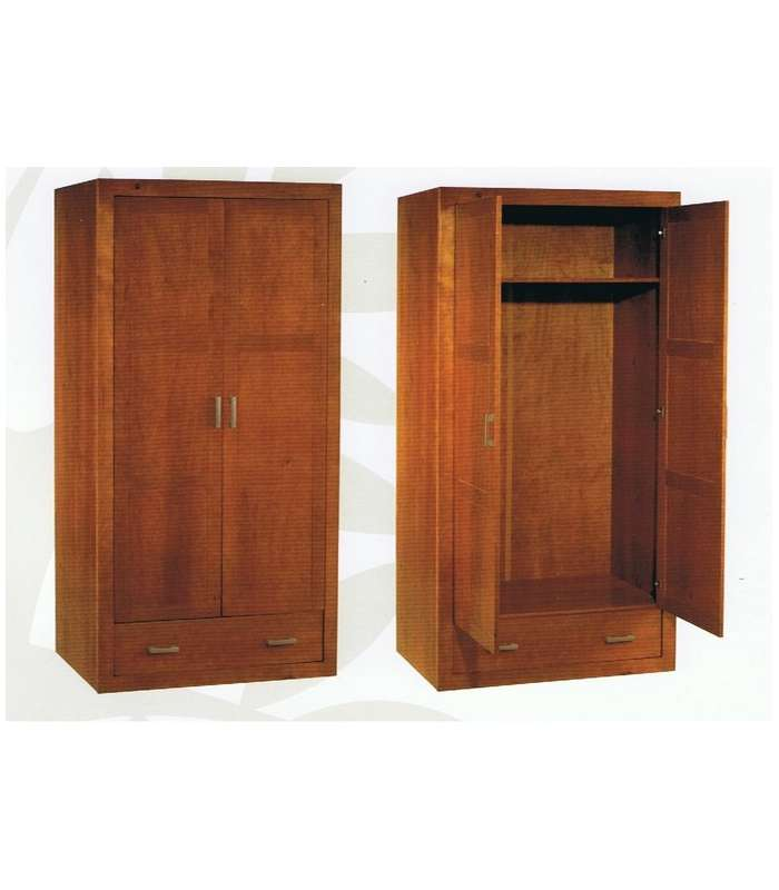 Wardrobe Solid Wood Cherry Color 105 Cm Wide