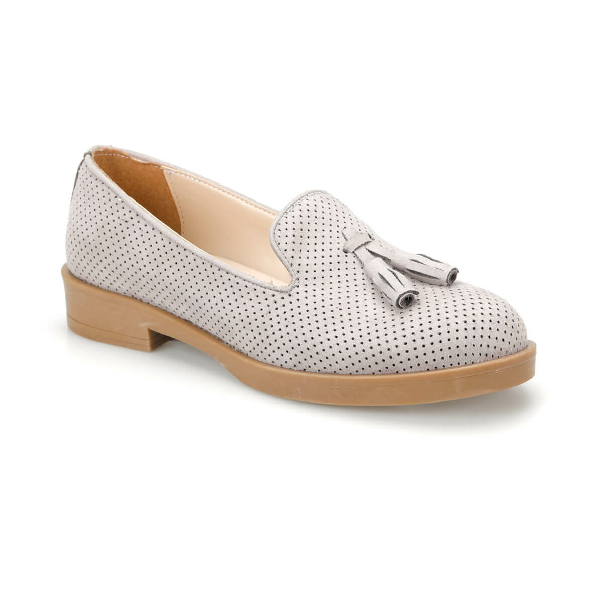 FLO DS19041 Gray Women Loafer Shoes Miss F