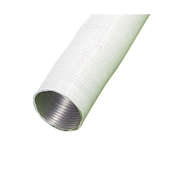 Aluminum Tube White Compact Ø 120mm./5 Meters.