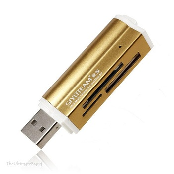цена на USB All in 1 Multi Memory Card Reader for Micro SD MMC SDHC TF M2