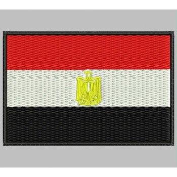 Bandera Egipto Para Mascarilla Parche Bordado Sắt Miếng Dán Toppa Ricamata Gestickter Miếng Dán Miếng Dán Brode