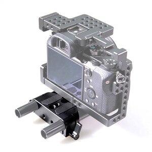 Image 5 - Smallrig universal baixo perfil dslr placa de base da câmera com 15mm haste ferroviário braçadeira como para sony fs7, para sony série a7 1674