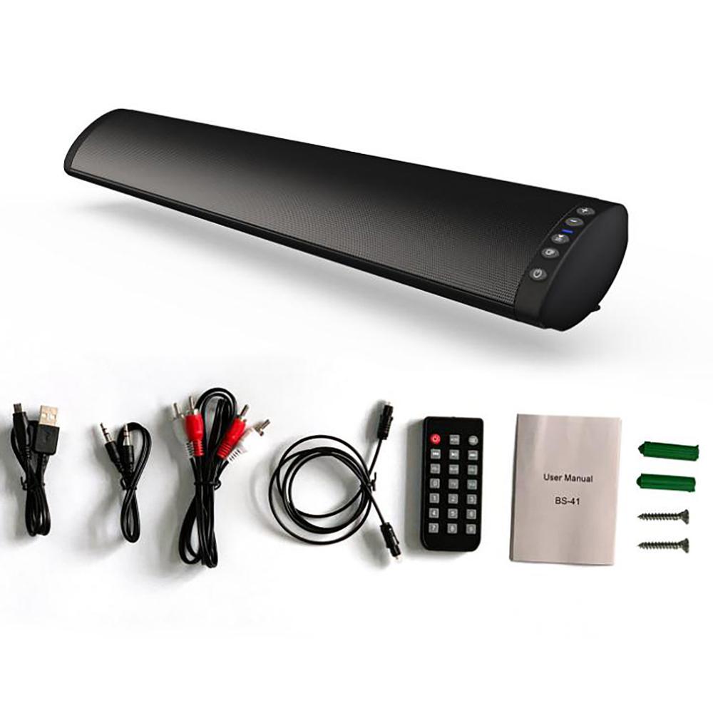 Черный BS-41 Sound Blaster Soundbar многофункциональный настенный Телевизор, 20 Вт Bluetooth динамик 5,0 с пультом дистанционного управления для телевизора