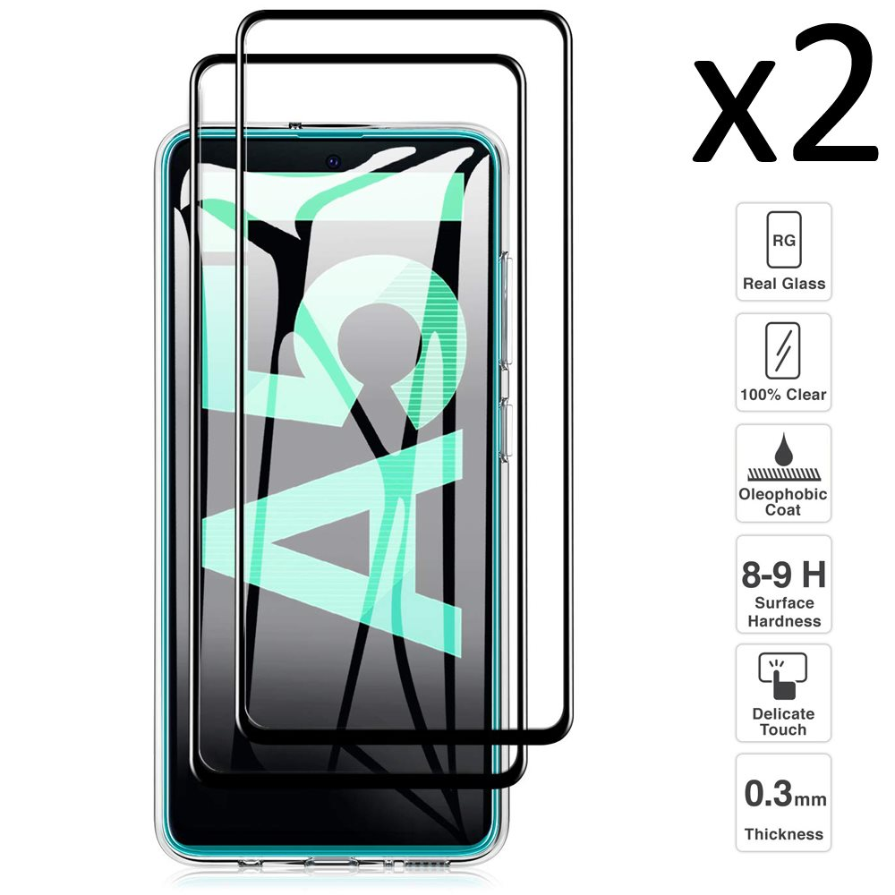 Samsung Galaxy A51 , Set 2 pieces tempered glass screen Protector anti-scratch ultra thin easy to install