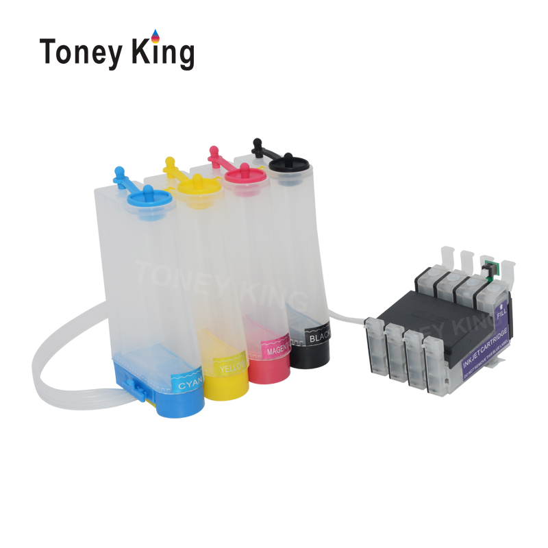 Toney King Ciss Ink System For Epson T1281 Continuous Ink Supply Tank For Epson Stylus S22 SX125 SX130 SX230 SX235W Printer