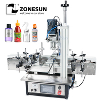 ZONESUN Ropp Pump Pneumatic Vial Desktop Screw Automatic Capping Machines Spray bottle cap Glass Screw Perfume Pet Plastic