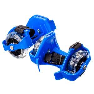 COLUMNS WITH A LIGHT, BASIS PLASTIC SLIDING, WHEELS PVC, 7, 2 CM, 3LED, UP TO 80 KG, LIGHTING ON FOOTWEAR BLUE