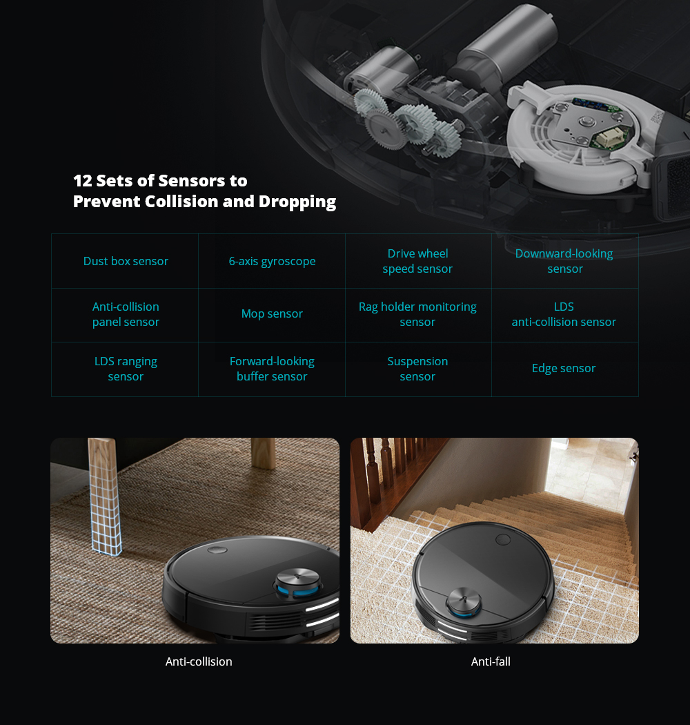 VIOMI V3 Robot Vacuum Mopping, 2600Pa, Quiet, Self-Charging Robotic Vacuum Cleaner, Cleans Hard Floors to Medium-Pile Carpets5