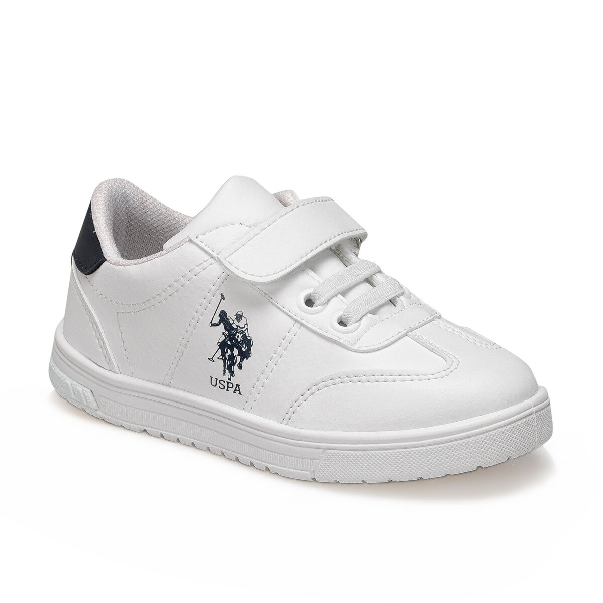 FLO GLOCK White Male Child Sneaker Shoes U.S. POLO ASSN.