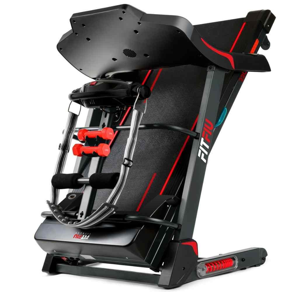 fitfiu fitness mc 500 klapp automatische tilt elektrische laufband 2200w 18 km h einstellbare geschwindigkeit