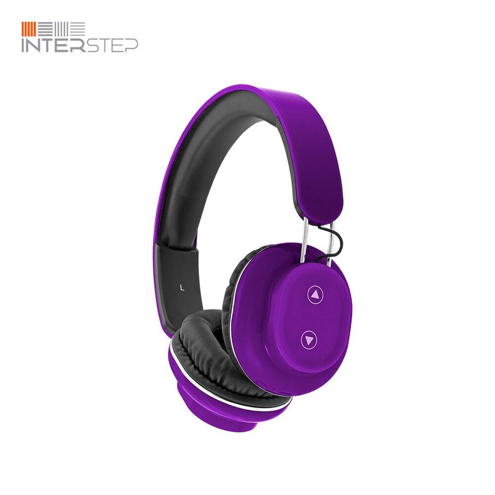 лучшая цена Bluetooth headset INTERSTEP SBH-350 Touch, purple
