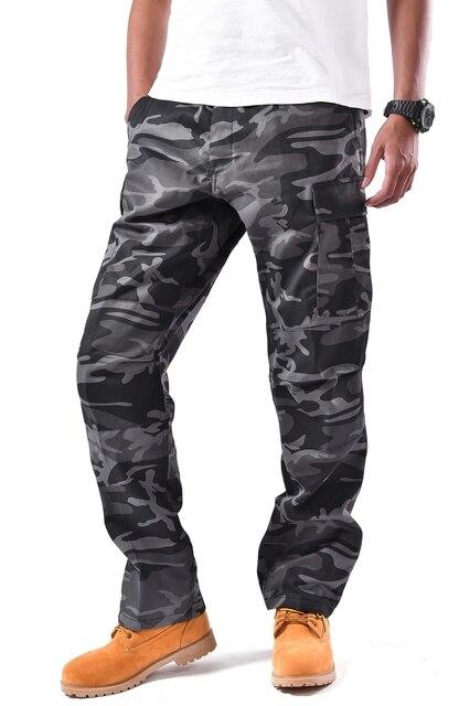 Мужские армейские брюки карго BDU в стиле милитари, рабочие повседневные камуфляжные цвета