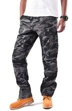 บุรุษทหารทหารCombat BDU Cargoกางเกงกางเกงทำงานลำลองลวงตาสี