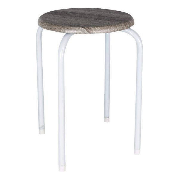 Stool Confortime Wood Metal (30 X 45 Cm)