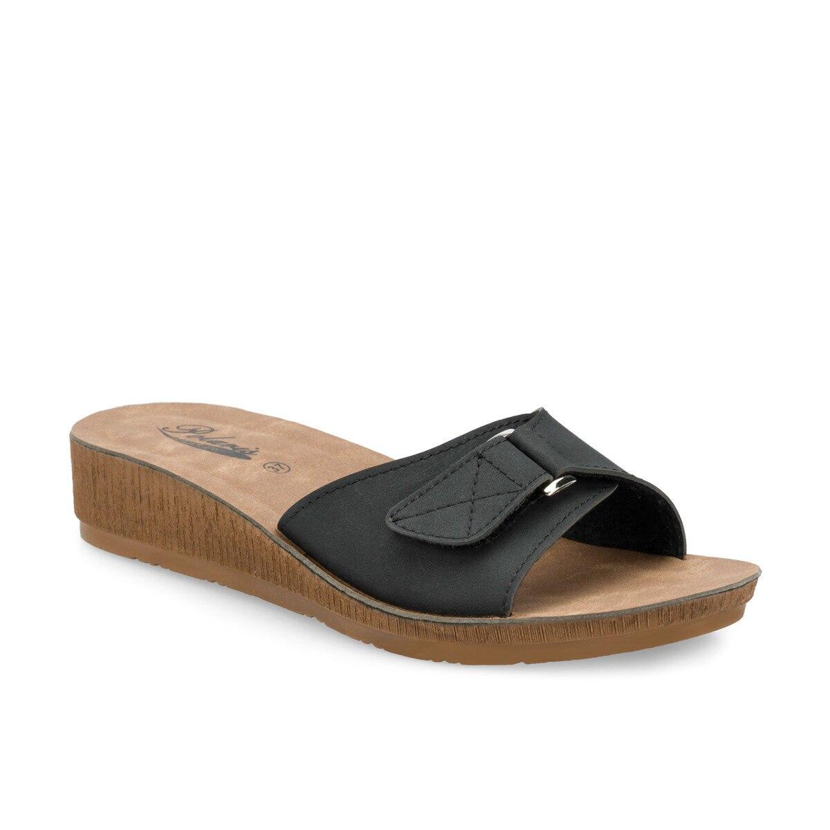 FLO 161202.Z Black Female Slippers Polaris