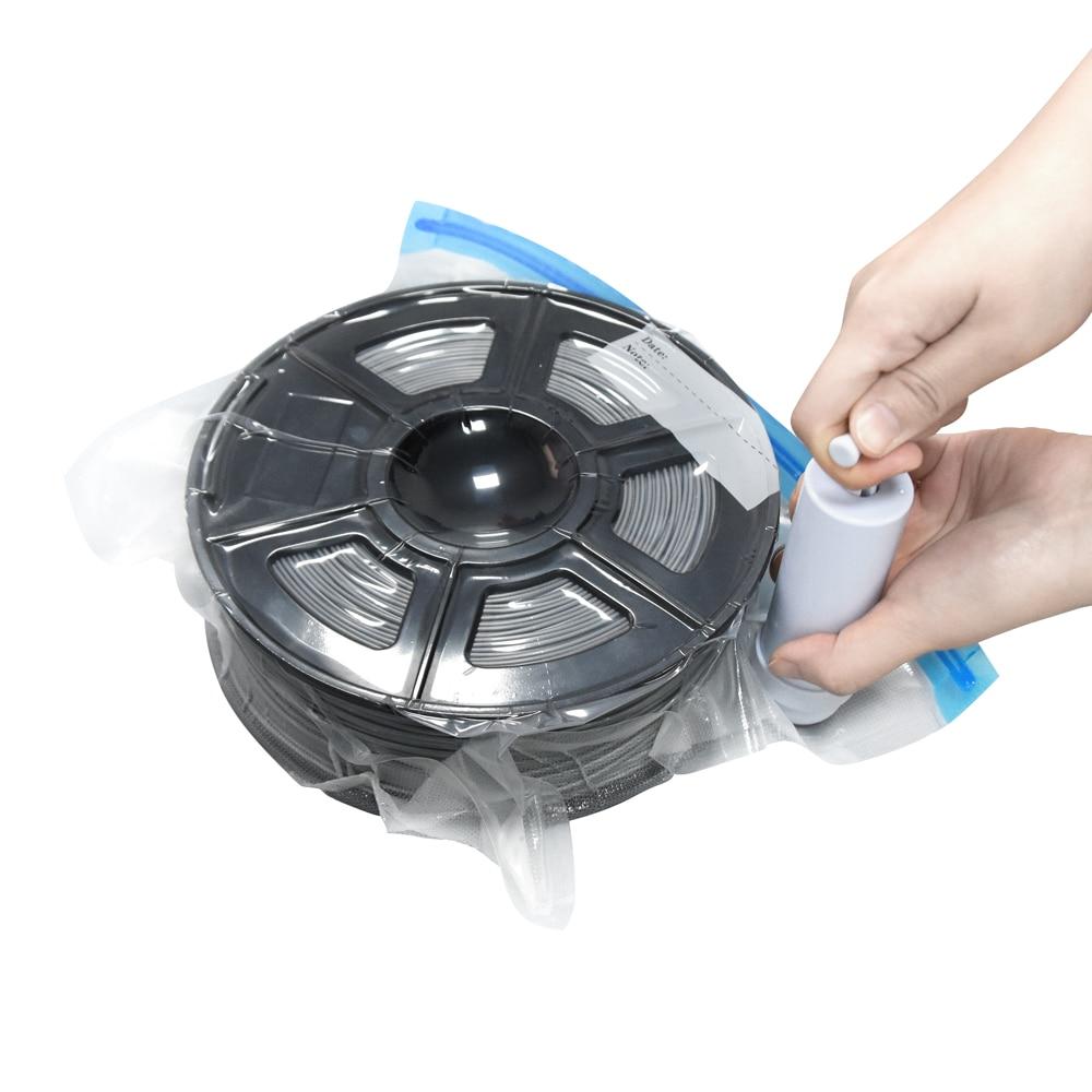 Twotrees 3d imprimir pla/abs/tpu filamento saco de vácuo filamento filamento secador para evitar umidade consumível para peças de impressora 3d