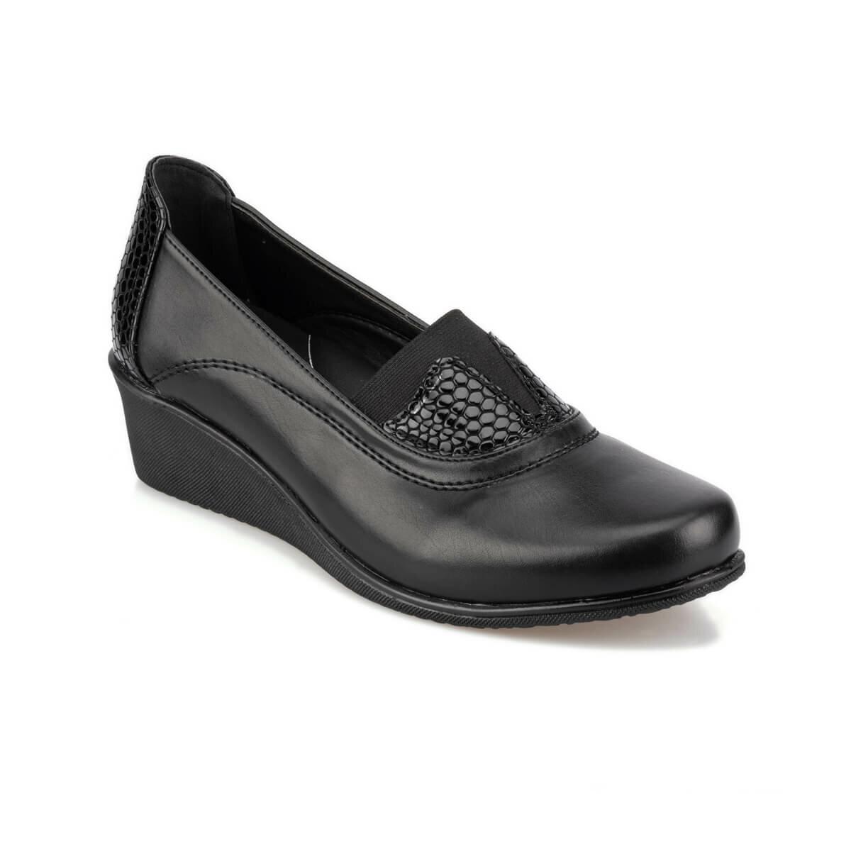 FLO 92.101090.Z Black Women 'S Wedges Shoes Polaris 5 Point