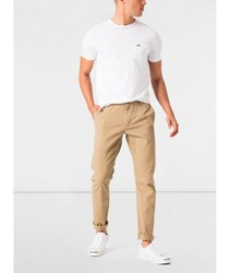 Chinese Dockers Washed Skinny Fit Stretch long pants for men beige menswear 2020