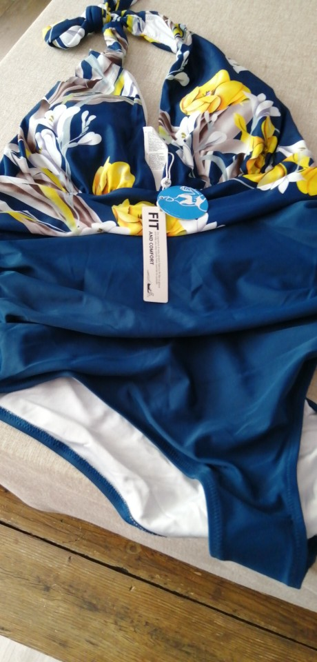 Black and Blue Women's One-Piece Swimsuit photo review