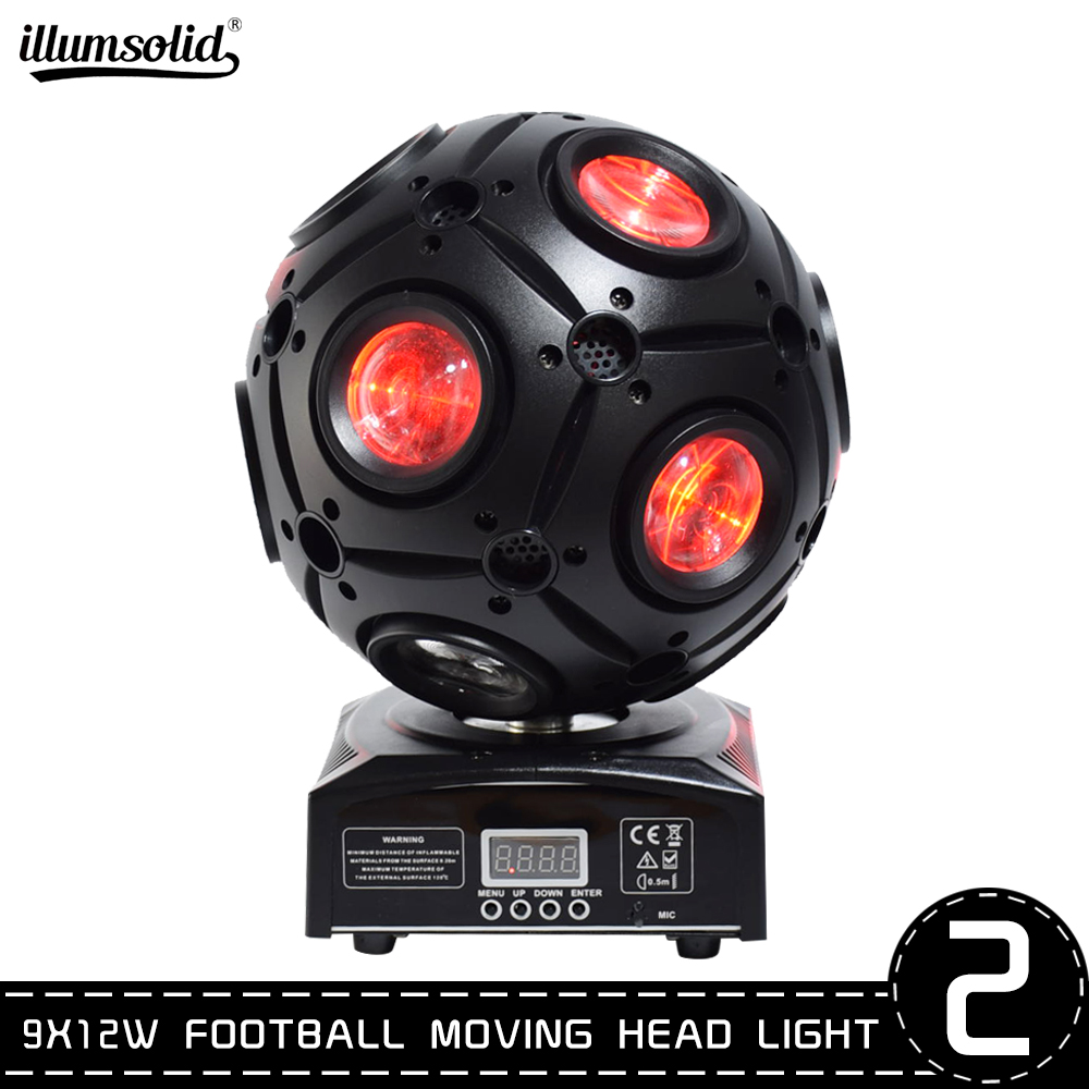 Football Moving Head Light LED Effect Y Axis Endless Rotation DJ Disco Ball Light For Stage 2pcs/lot