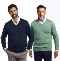 Jersey Pack V neck sweaters men The Time Of Bocha Ocean mint