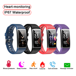 Exquisite Women Men Fitness Bracelet Smart Wristband Heart-monitoring Remote Camera Smart Band Step Counting Calorie Sport Watch