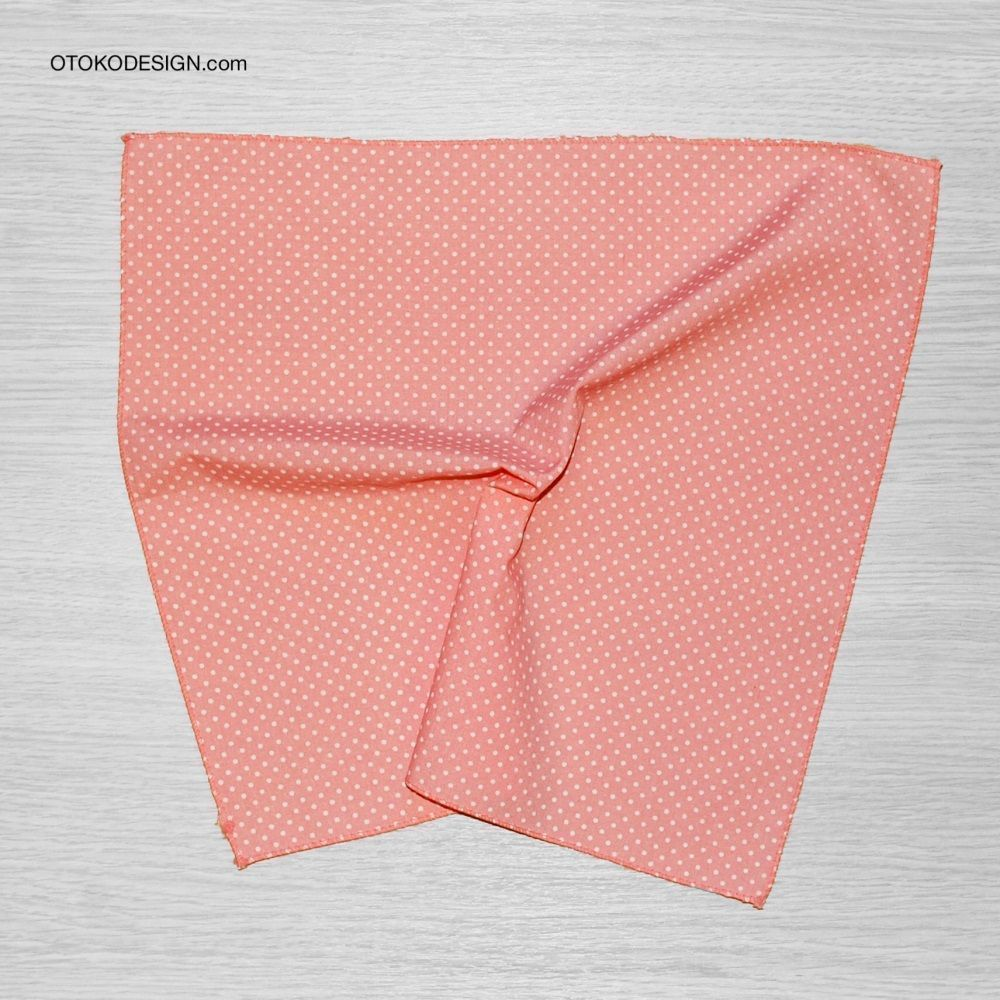 Pocket Square Jacket Pink White Polka Dot (51818)