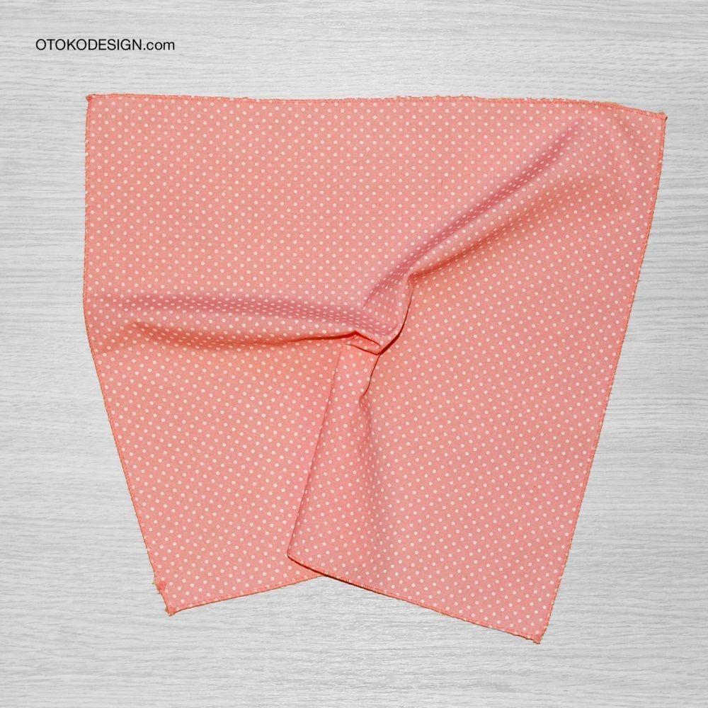 Pocket Square Jacket Pink White Polka Dot (51818)