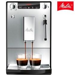 Cafetera automática express Melitta Caffeo Solo&Milk 953-102, sistema de leche manual, eléctrica, profesional, moderna, plata