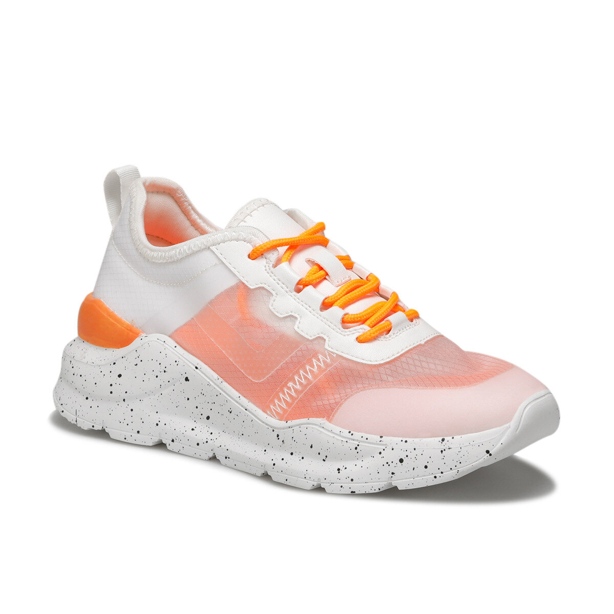 FLO Orange White Women Sneaker Fashion Shoes Transparent Casual Shoes LUMBERJACK