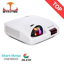 BYINTEK C600WST1080P FUll HD krótki rzut światło dzienne Hologram 3LCD rzutnik do kina edukacja spotkanie reklamować