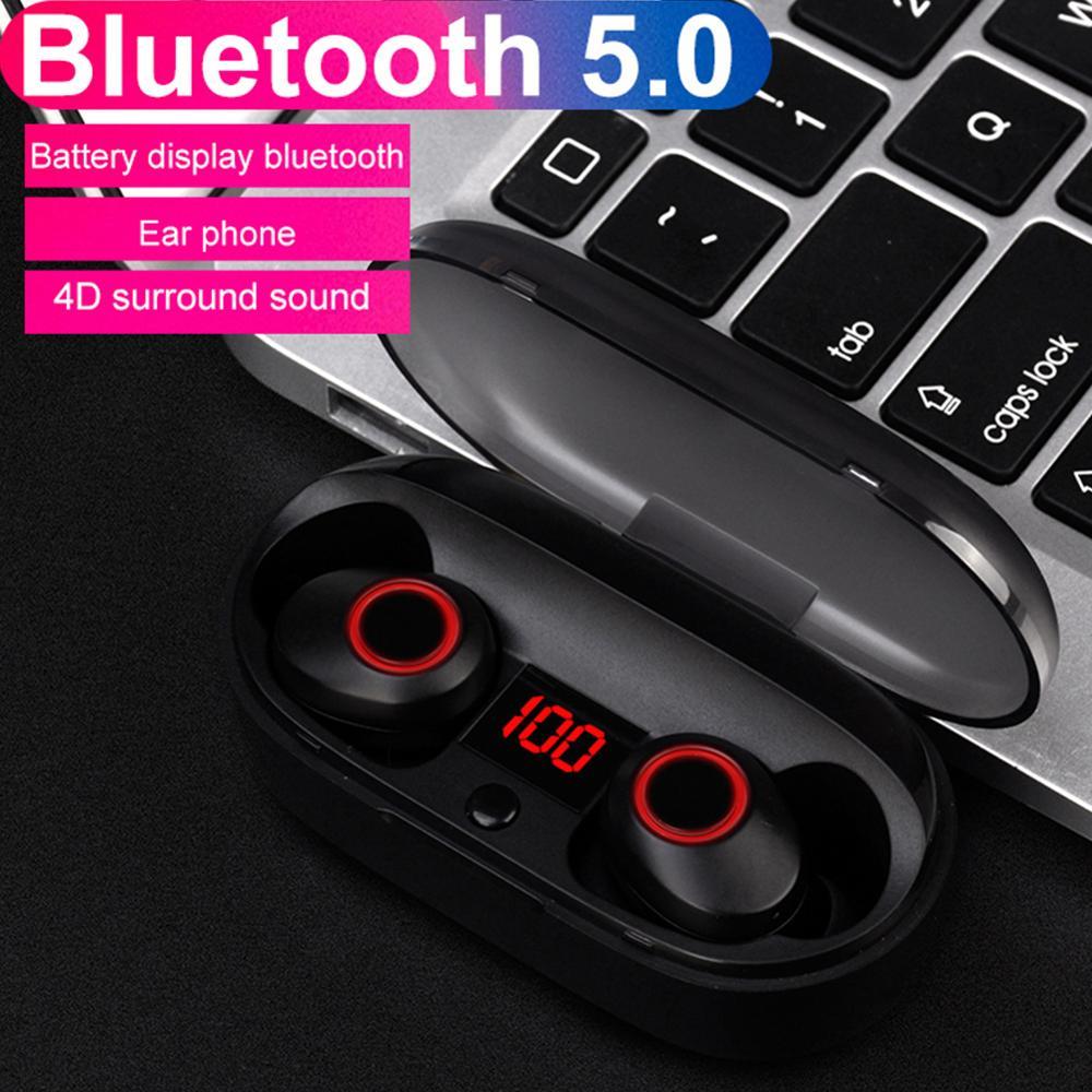 : Kphrtek 1 шт. J29 Bluetooth 5,0 наушники-вкладыши TWS с Дисплей мини Беспроводной вкладыши близнецов наушники с Батарея чехол хэндс-фри