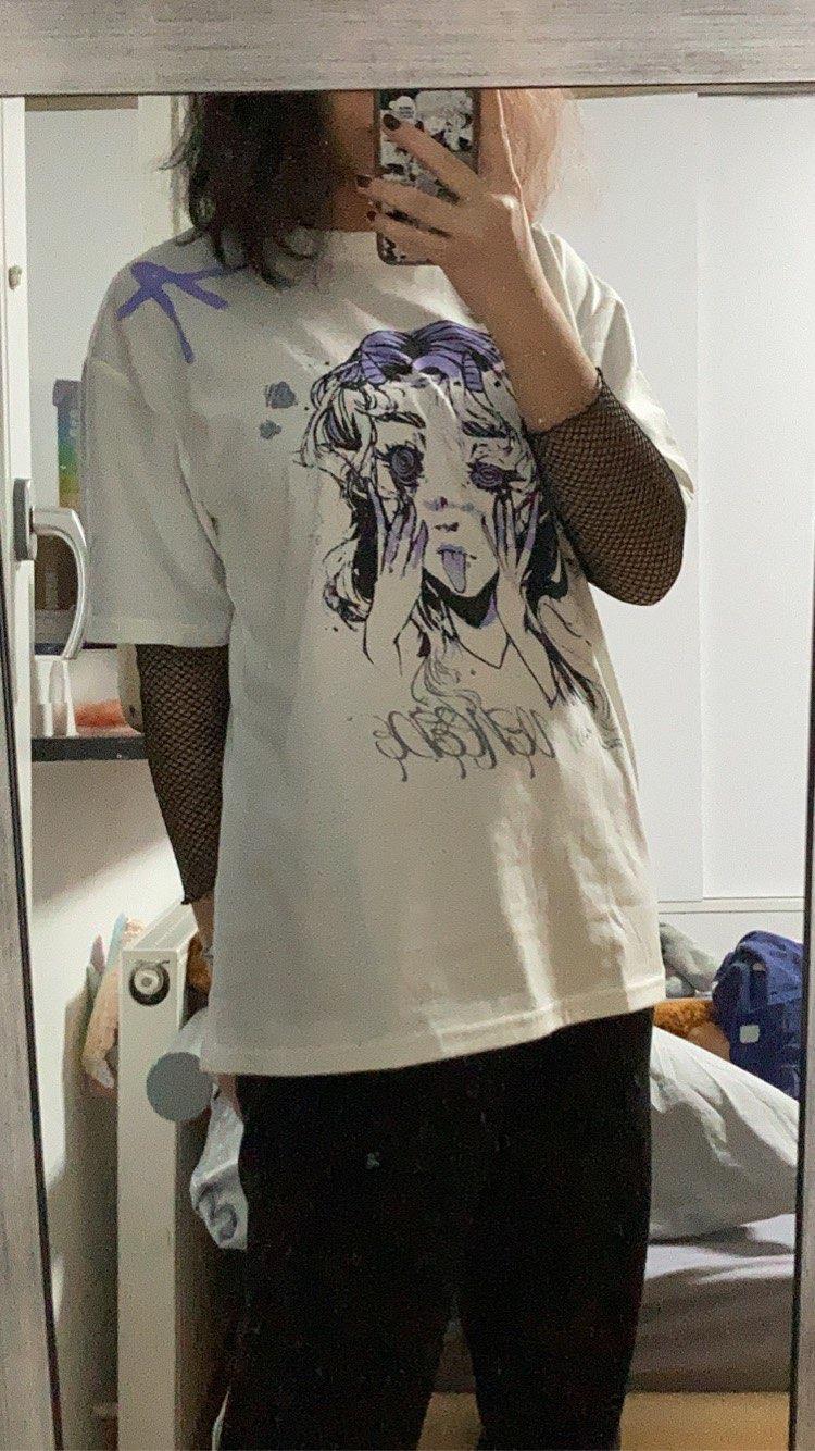 Anime Elf print T-shirt photo review
