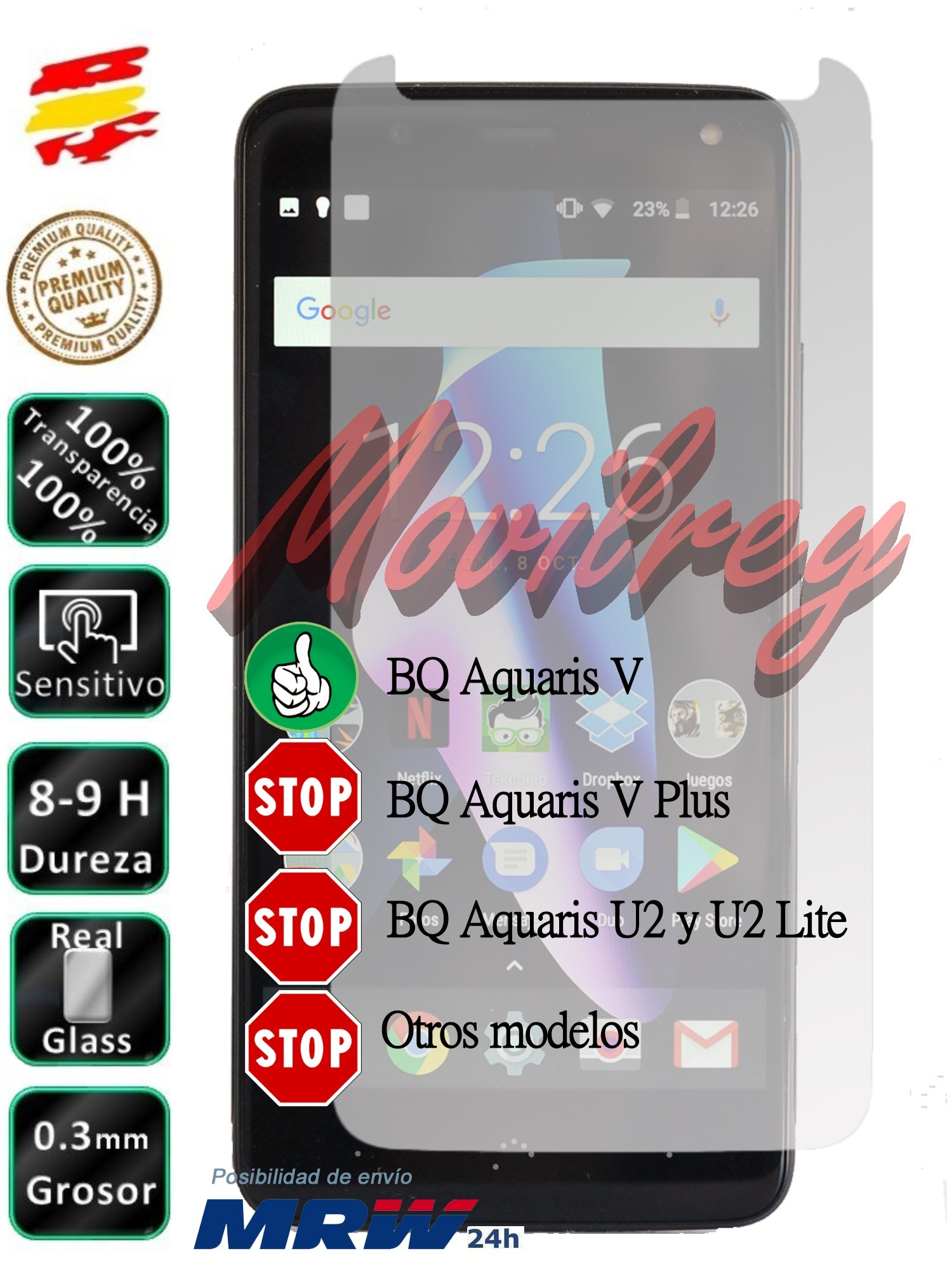 Patronizing For BQ Aquaris V Tempered Glass Screen Glass 9H For Mobile