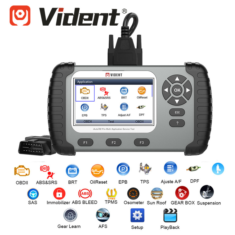 VIDENT IAuto702 Pro IAuto 702Pro With ABS/SRS/EPB/DPF Up To 19 Maintenance Special Function Update Online