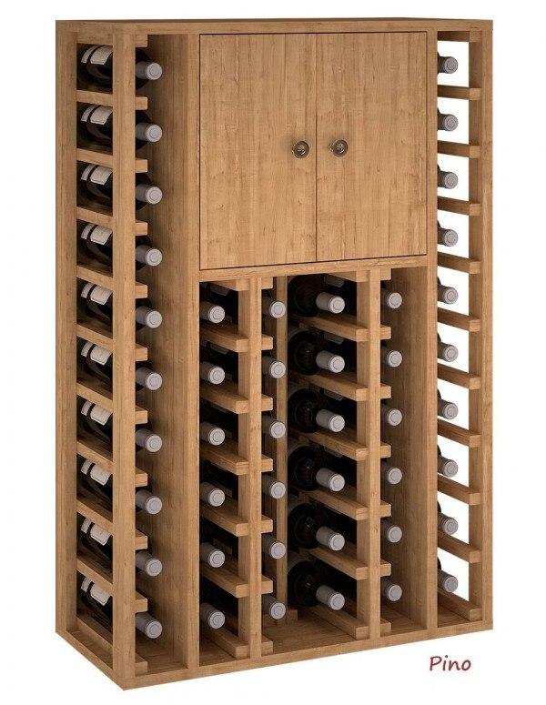 Botellero 2 Puertas Superiores 44 Botellas