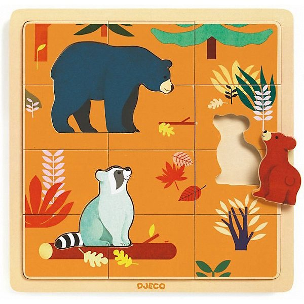 Wooden Puzzle DJECO \Autumn in the Woods\ MTpromo wooden puzzle djeco autumn in the woods