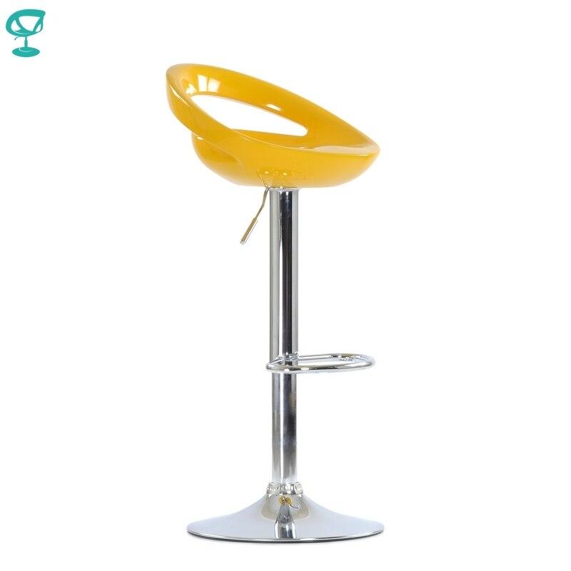 95768 Barneo N-6 желтый пластиковый стул поворотный кухонный стул высокий барный стул на газ-лифте мебель для кухни табурет для бара дизайнерский ...