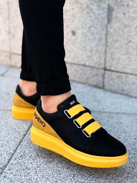 Boa Black and Yellow Casual Shoes Men Shoes 5f436df649baa5b7401155: 39|40|41|42|43|44|45