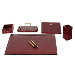 Luxury Wooden Charisma Desk Set 9 Pieces Desk Organizer Office Accessories