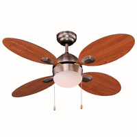Ceiling fan with light 4 blades 46W 3 speeds 7hSevenOn Deco