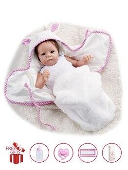 RBG-Muñeca de bebé Reborn de 16 pulgadas, cuerpo de tela de bebé...