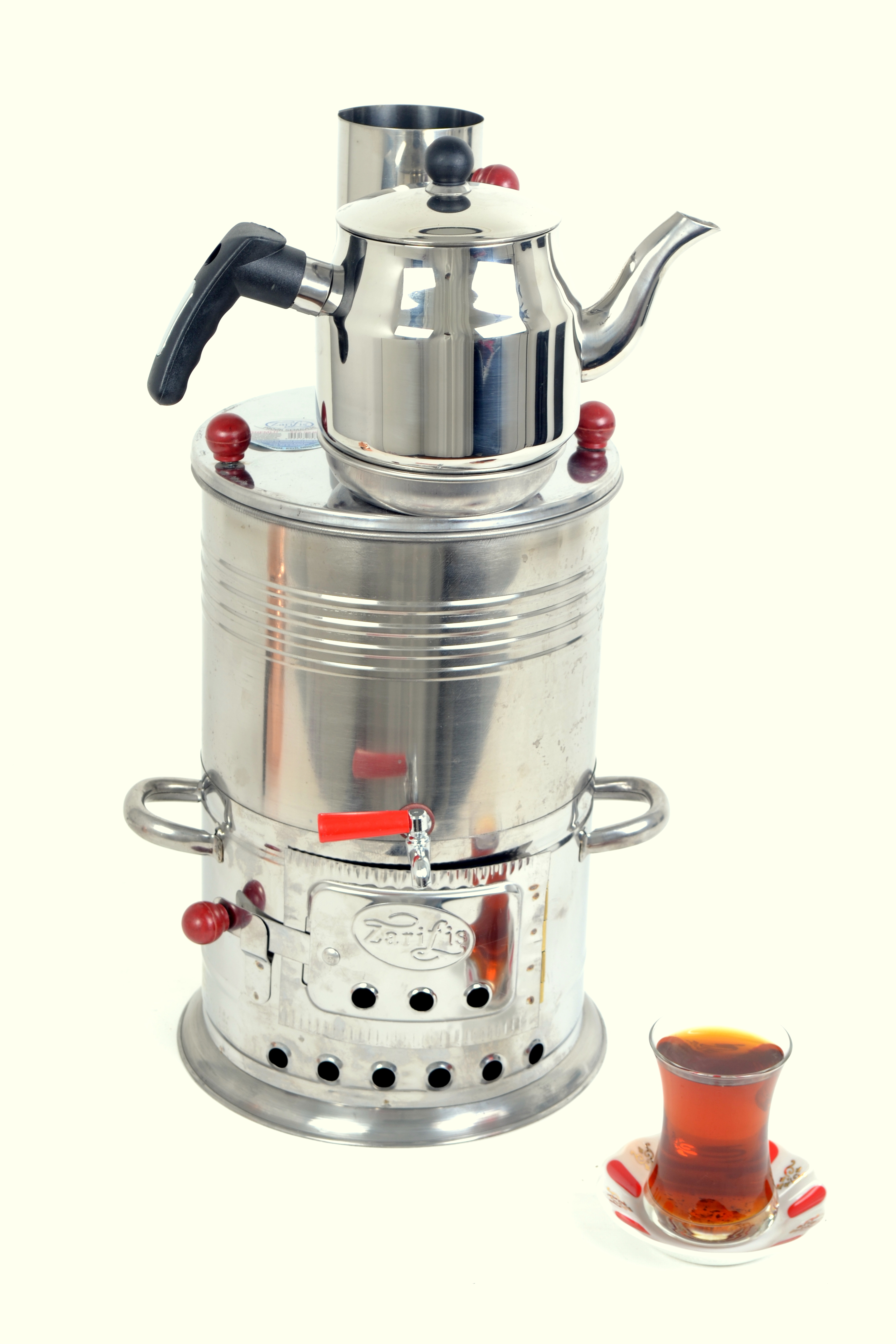 Chrome Tea Samovar 3.5 Liter