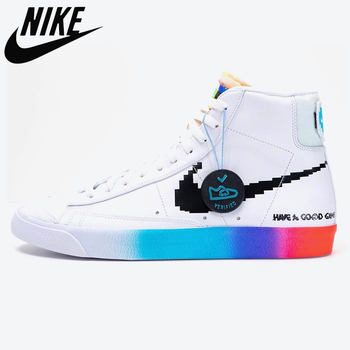 Original Nike Blazer Mid 77 Vintage Have A Good Day casual sports skateboard shoes for men Unisex women Sneaker