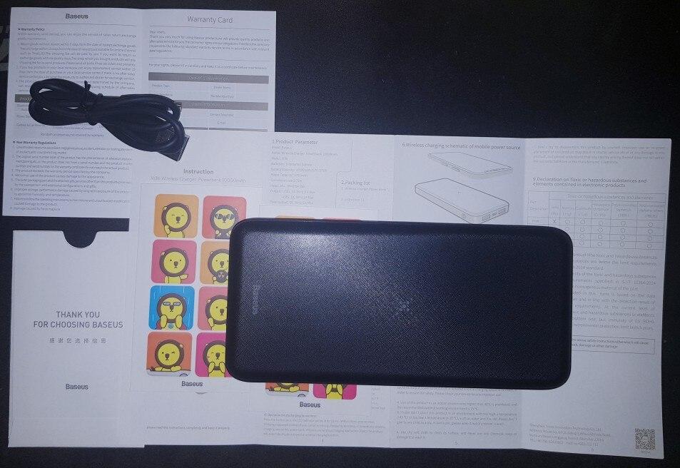 Baseus 10000mAh Qi Wireless Charger Power Bank External Battery Wireless Charging Powerbank For iPhone11 X Samsung huawei Xiaomi|Power Bank|   - AliExpress